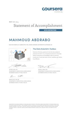 Coursera datascitoolbox